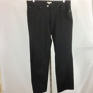 Eileen Fisher Jeans Size Large Ins 28 Black